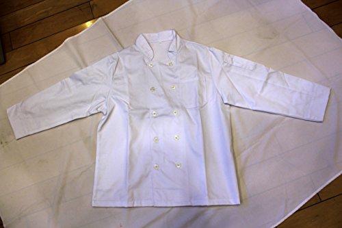 All White Unisex Chef Jacket (Long Sleeves) Size 46, 2X-Large