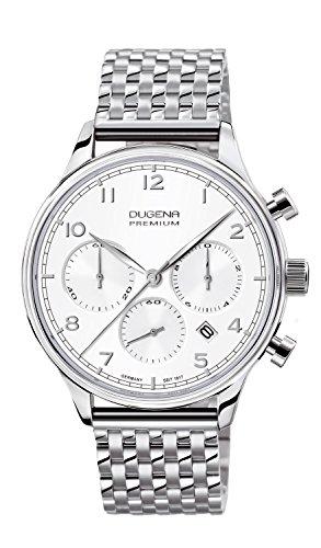 Dugena Herren-Armbanduhr Sigma Chronograph Quarz Edelstahl 7090202