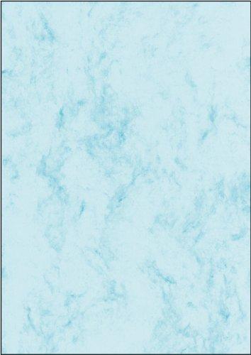 SIGEL DP261 Marmor-Papier blau, A4, 100 Blatt, 90 g - weitere Farben