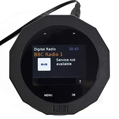 Receptor de Radio FM/Dab/Dab+ con Bluetooth – August DR245 – Añade fácilmente Dab, Dab+, Radio FM o Bluetooth a tu Sistema de Altavoces existente