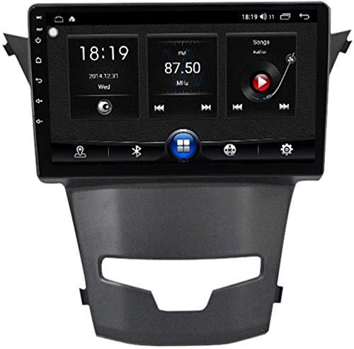 Android 10 Radio de Multimedia Coche para SsangYong Actyon 2014 Autoradio GPS Radio estéreo BT SWC DSP Llamada Bluetooth con Camara Trasera