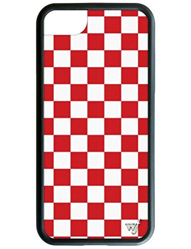 Wildflower Limited Edition Cases for iPhone 6, 7, or 8 (Red Checkered)