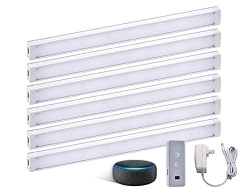 BLACK+DECKER Works with Alexa Smart Under Cabinet Lighting Kit, Adjustable LEDs, 6 9