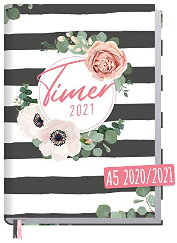 Chäff-Timer Classic A5 Kalender 2020/2021 [Time for Stripes] Terminplaner 18 Monate: Juli 2020 bis Dez. 2021 | Wochenkalender, Organizer, Terminkalender mit Wochenplaner - nachhaltig & klimaneutral