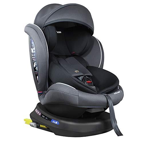 XOMAX S64 Kindersitz drehbar 360° mit ISOFIX und Liegefunktion I mitwachsend I 0-36 kg, 0-12 Jahre, Gruppe 0/1/2/3 I 5-Punkt-Gurt und 3-Punkt-Gurt I Bezug abnehmbar, waschbar I ECE R44/04