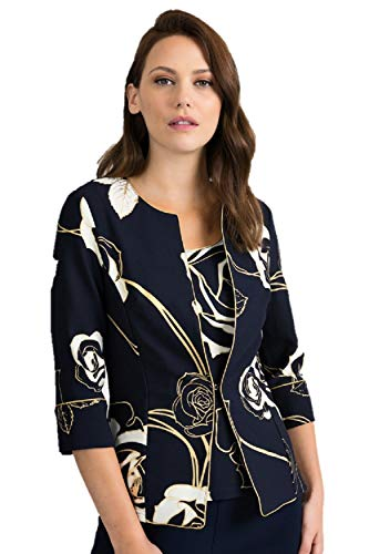 Joseph Ribkoff Midnight Blue & Vanilla 2 Pcs Set Top & Jacket Style 201270 - Spring 2020 Collection (20)