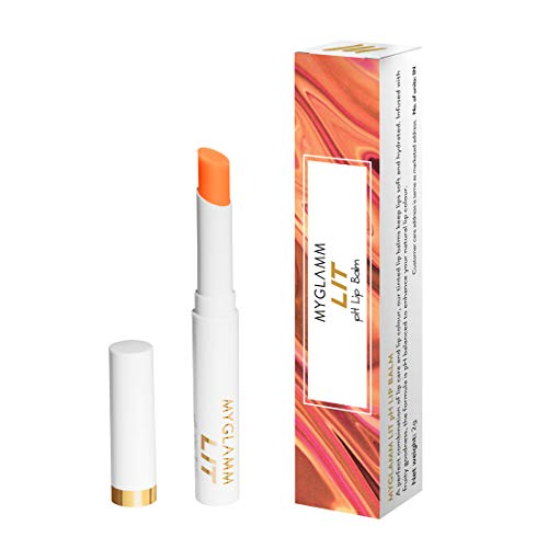 MyGlamm LIT PH Lip Balm (Orange Crush), 2g - PETA Approved, Vegan & Long Lasting