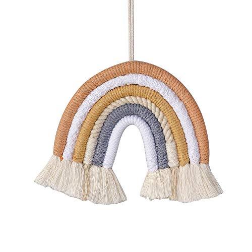 Shiwaki Adorno de Tapiz Tejido con arcoíris, tapices de arcoíris para decoración del hogar, Cumplea?os, Fiesta del día de la Madre, Adorno para la Ducha, Regalo (Cofre) ⭐