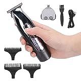 Cortapelos para hombres, juego de cortadores de cabello con carga USB 2 en 1, pantalla digital LCD, cuchillas de aleación suaves y afiladas, juego de tijeras de peluquería y uso personal en el hogar