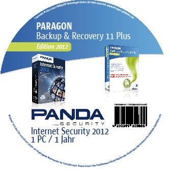 bester Test von panda internet security Paragon Backup & Recovery 11 Home Plus Edition 2012 + Panda Internet Security 2012 (enthalten…