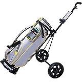 ZHANGYUEFEIFZ Chariot de Golf Golf Chariot réglable Chariot de Golf Panier 2 Roues Push Pull Golf Cart en Alliage d'aluminium Pliable Chariot avec Frein, Tableau de Bord