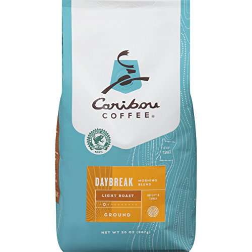 Caribou Coffee, Daybreak Morning Blend Light Roast, 20 Ounce Bag, Light Roast Blend, Rainforest Alliance Certified