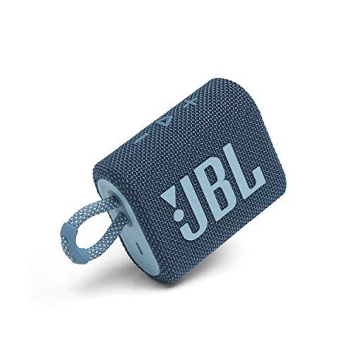 JBL Go 3: Portable Speaker with Bluetooth, Built-in Battery, Waterproof and Dustproof Feature - Blue (JBLGO3BLUAM) (Renewed)