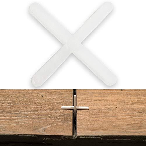 Fliesenkreuze, 1.5 mm stark, 1000x, sorgen für gleichmäßigen Abstand, können verfugt werden, Fugen Kreuz, Fliesenabstandshalter, Fliesen Abstandshalter, Fliesen Kreuz, Kunststoffkreuze, Distanzhalter