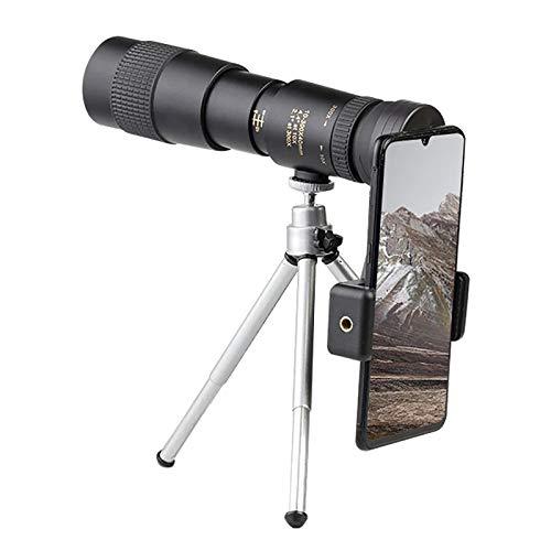 ZUOAO Telescopio monocular con Zoom 4K 10-300X40mm HD Portátil Potente visión Profesional Eventos Deportivos, conciertos, observación de Aves, Camping, Pesca y Viajes