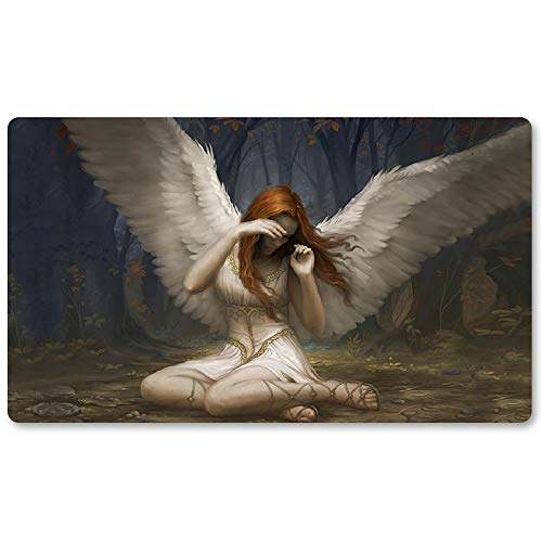 Angel of Flight Alabaster - Board Game MTG Playmat Table Mat Games Size 60X35 cm Mousepad Play Mat for Yugioh Pokemon Magic The Gathering