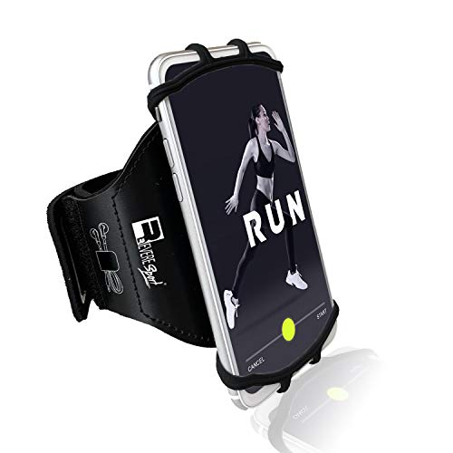 RevereSport Universal iPhone Running Armband (12/11/10/8/7/6/X/XR/XS/SE/Plus/Max/Pro). Phone Holder Case