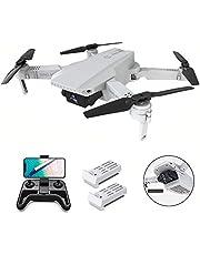 OBEST Mini Dron con Cámara 4K HD, Dual Cámara Posicionamiento de Flujo óptico, Altitude Hold, Modo sin Cabeza, Vuelo de Trayectoria, 2 Baterías, Vuelo de 24-30 Minutos, Blanco