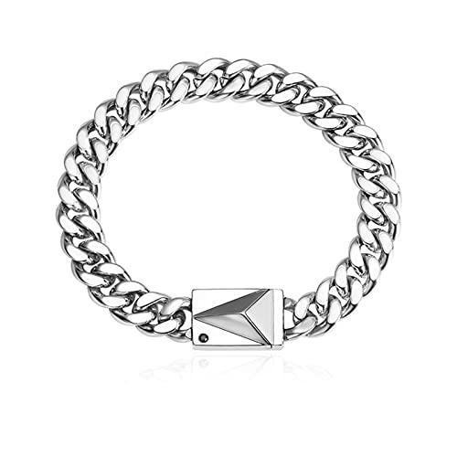 Pulsera De Plata Cadena De Acero De Titanio Dainty Minimalist Simple Jewelry Gift para Mujeres Hombres