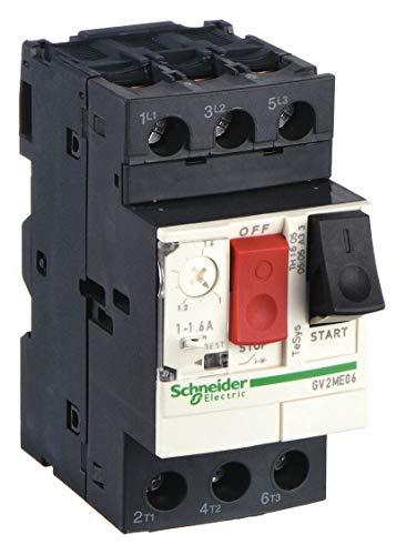 Manual Motor Starter, Button, 1-1.6A, 1P