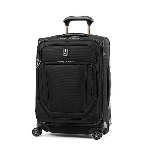 Travelpro Crew Versapack Softside Expandable Spinner Wheel Luggage, Jet Black, Carry-On 21-Inch