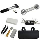 Targarian Kit de Herramientas de reparación de Bicicletas con 14 Piezas Conjunto de Herramientas de reparación de pinchazos by
