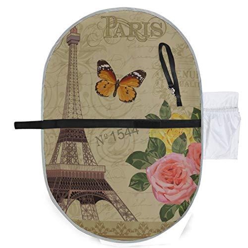 Baby tragbare Pad wasserdichte faltbare Paris Vintage Postkarte Windelmatte Reisematte Bequemes Hängen