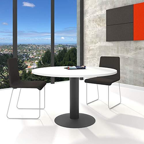 Optima ronde vergadertafel eettafel keukentafel tafel wit rond Ø 120 cm
