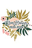 5 Year Planner 2020-2024: 60 Month Calendar With National Holidays | Floral Planner For Women | Pocket Planner & Monthly Planner for 5 Year Plan