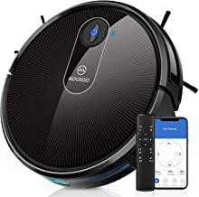 MOOSOO Robot Vacuum, Wi-Fi Connectivity, 120 Min Runtime Self-Charging Robotic Vacuum Cleaner Ideal for Pet Hair, Carpets, Hard Floors 1800Pa Powerful Suction Electric Vacuum, MT-720