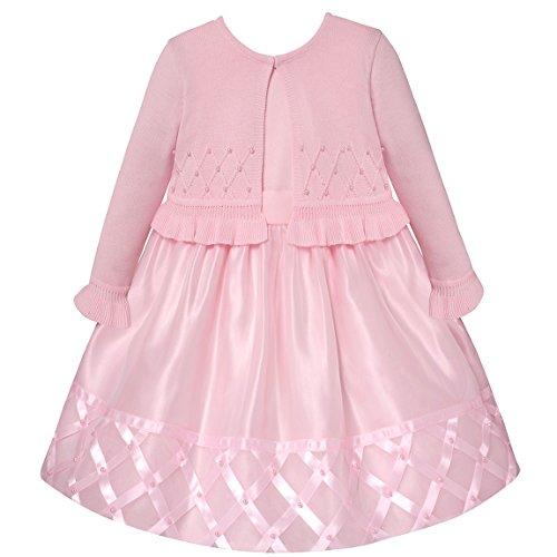 American Princess Festliches Baby und Mädchen Petticoatkleid inkl. Strick-Bolero in zartem rosa Gr. 56,62,68,74,80,104,110,116,122 Größe 116