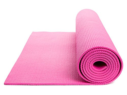 DOBO® Tappeto Tappetino Yoga Addominali Aerobica Palestra Fitness Ginnastica Pilates Antiscivolo (Rosa)