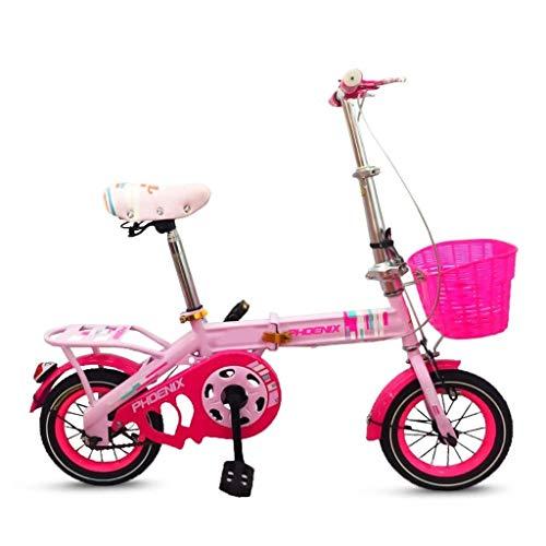 WEHOLY Fahrradreise Kinderfahrrad 16 Zoll Klapprad Junge Mädchen Mädchen Auto 6-10 Jahre alte Männer und Frauen Kinder Fahrrad