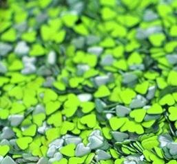 Sonailsofrench - 100 Strass coeur métal #04 - Vert pomme fluo - conditionnementstrass : 20 STRASS EN SACHET