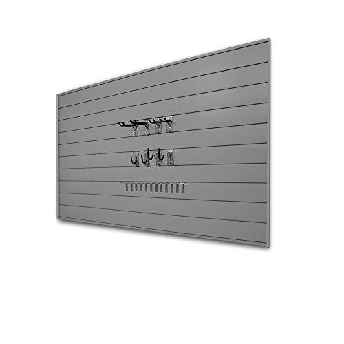 Proslat 33013 Basic Bundle with Slatwall Panels and Hook Kit, Light Grey