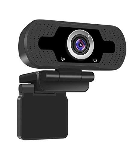 chuangminghangqi Webcam USB con Microfono Full HD 1080P, Webcam Streaming Professionale con Plug And Play per Telelavoro, Videochiamate,Corsi Online, Conferenze, Registrazione, Giochi (Set-1334)
