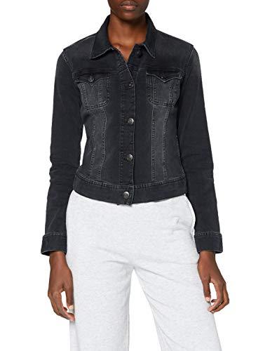 Herrlicher Damen Joplin Denim Black Cashmere Touch Jacke, INOX 095, L