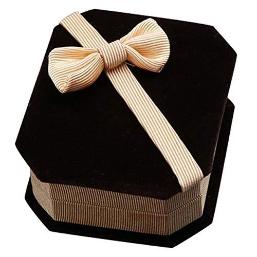 LYPYY HalsketteOhren Lagerung Schmuck Geschenkbox (blau), Champagner