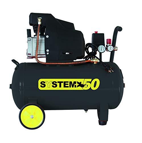 Compressore d'aria lubrificato ad olio da 50 Litri 1.800 Watt 8 bar SYSTEM+