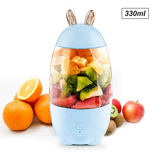 Pedkit 330mL Portable Juicer Electric Mixer Cup USB Rechargeable Mini Smoothie Blender Shakes Handheld Fruit Vegetable Machine Milkshake Juicer Cup for Outdoor Travel Office Home Baby Food Personal U