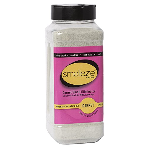 SMELLEZE Natural New Carpet Smell Remover Deodorizer: 50 lb. Powder Rids Carpet VOC