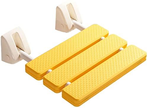Taburete Baño,Silla o Taburete de baño Silla de asiento de ducha plegable,banco de ducha de baño montado en la pared for familia,SPA O sala de sauna-carga máxima 120kg/265lbs ( Color : Amarillo )