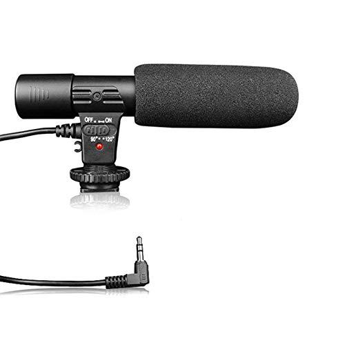 NOP Stereo Camcorder Microfoon voor DSLR Camera Computer Mobiele Telefoon Microfoon voor