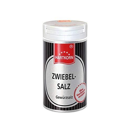 Zwiebel-Salz - 54 g im Aluminium Gewürzstreuer von Hartkorn - wiederverschließbar und wiederbefüllbar