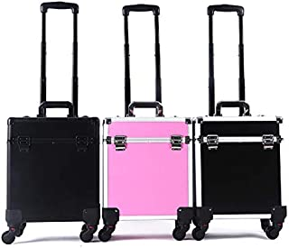 Professional Trolley Cosmetic Case Portable Suitcase Makeup Organizer With Wheels Large Capacity Luggage Box Nail Art Container