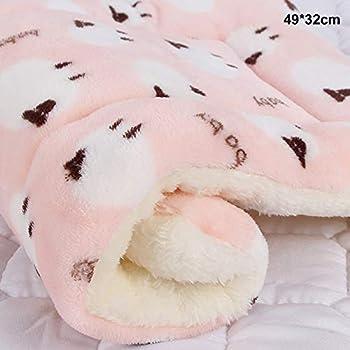 Vejaoo Flanelle Douce et Chaude Couverture Chaude, épaisse Couverture de Chien Tapis de Chat XZ006 (49 * 32 CM, Pink)