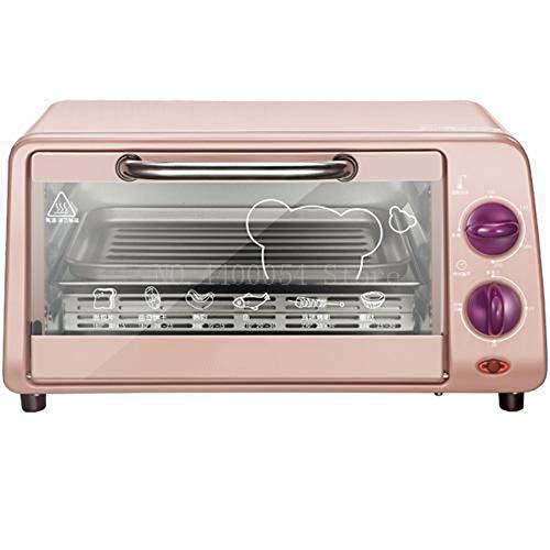 10L multifunctionele magnetronovens, automatische mini-oven elektrische oven, voor thuis bakken, gratis temperatuurregeling 800W roze