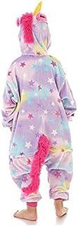 Niños Unicornio de Dibujos Animados de Franela Animal Novedad Disfraces Cosplay Pijama (Estrella, Tamaño 125: 135-144cm)