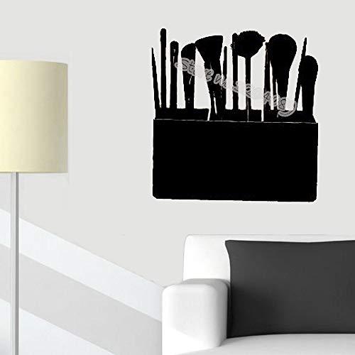 yaoxingfu Estuche de cosméticos Pinceles de Maquillaje Etiqueta de la Pared Moda Maquillaje Estudio Salón de Belleza Chica Mujer Estética Extraíble Fondos de Pantalla Color de Tarjeta42x42 cm