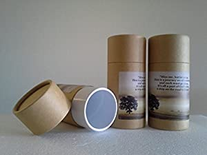 Pasco Specialty Products Set of Three Natural Biodegradable Cremation Scattering Tubes w/Telescopic Lids & Instructions (Style: Hallowed)
